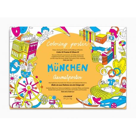 München Ausmalposter